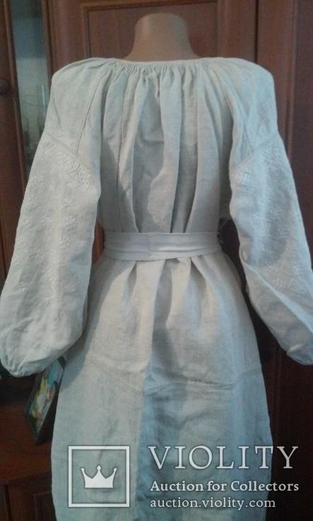 Старинная украинская вышиванка- оберег(Сумщина)   белым по  белому с вырезанием., фото №10