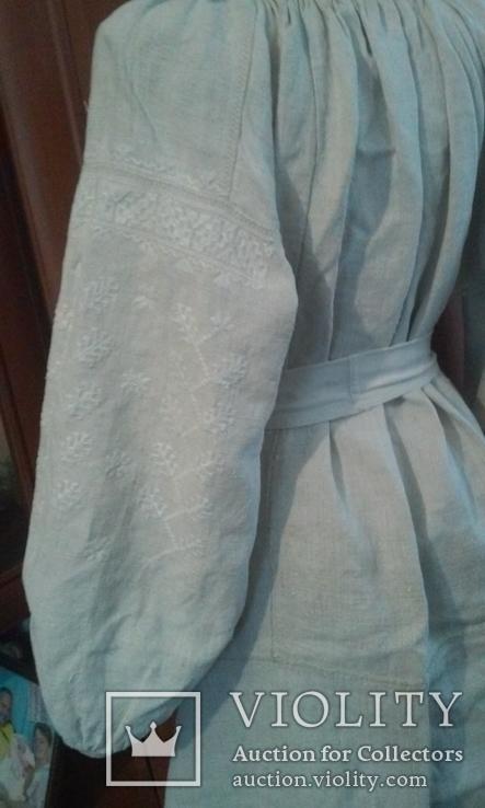 Старинная украинская вышиванка- оберег(Сумщина)   белым по  белому с вырезанием., фото №11