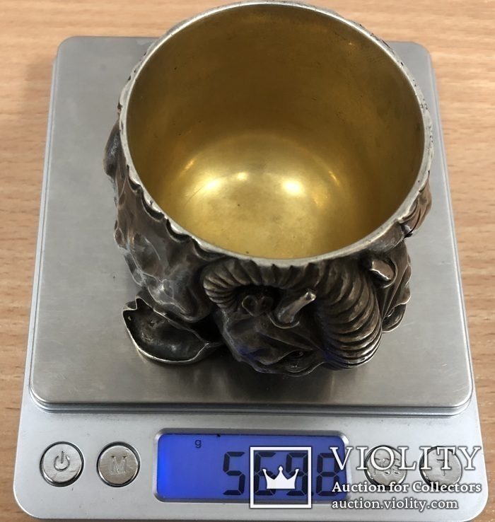 Рюмка-слоник. Серебро 84 пробы. Вес 570 грамм. (новодел под Фаберже), фото №12