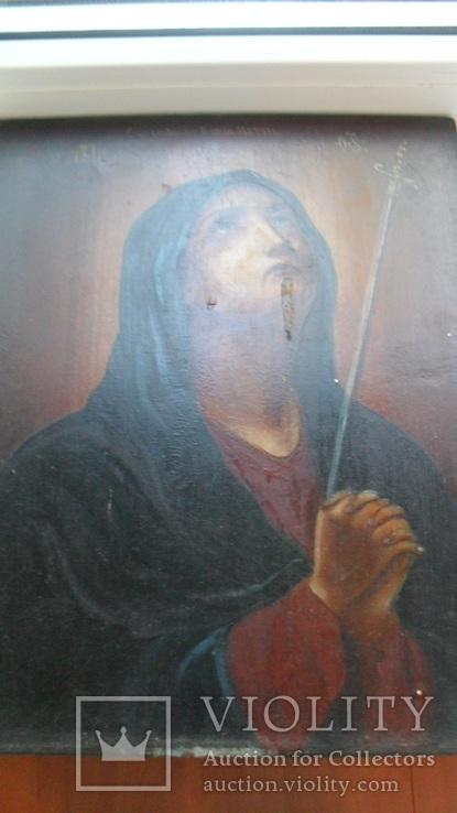 """Икона Богородица Скорбящая """"Умягчение злых сердец"""", фото №2"""