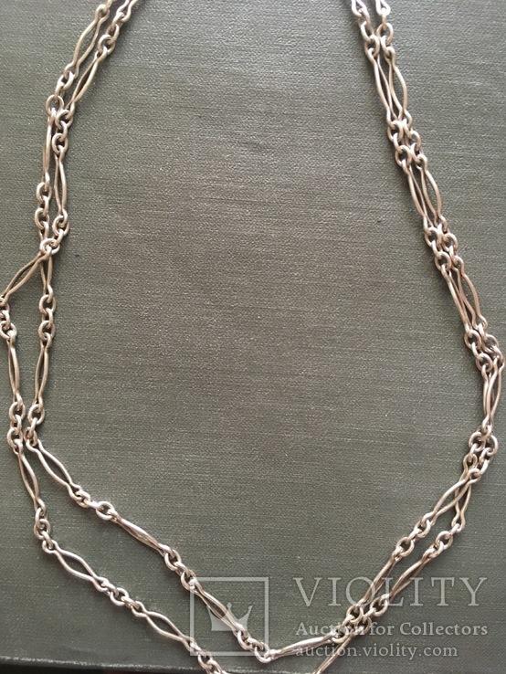 Цепь серебро 800, фото №2