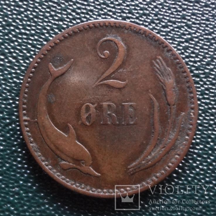 2 эре 1889    Дания    (,10.1.30)~, фото №2