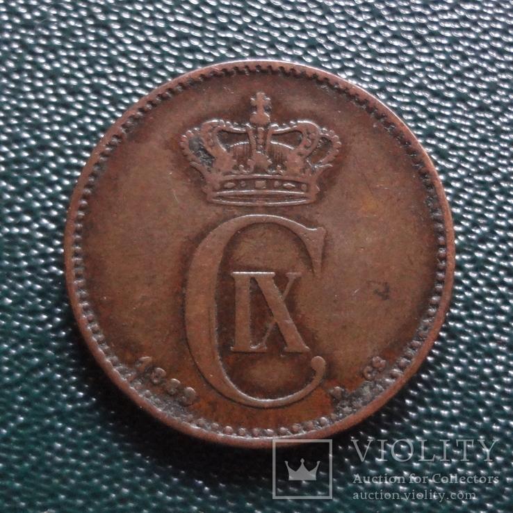 2 эре 1889    Дания    (,10.1.30)~, фото №3