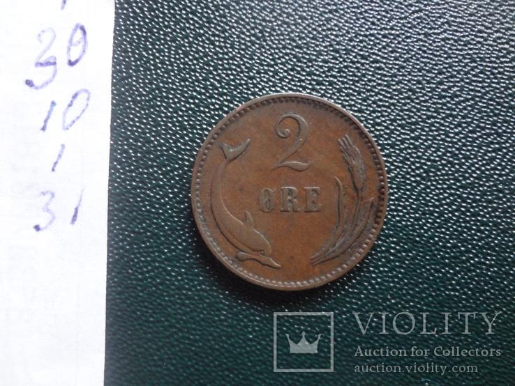 2 эре 1899 Дания (,10.1.31)~, фото №5