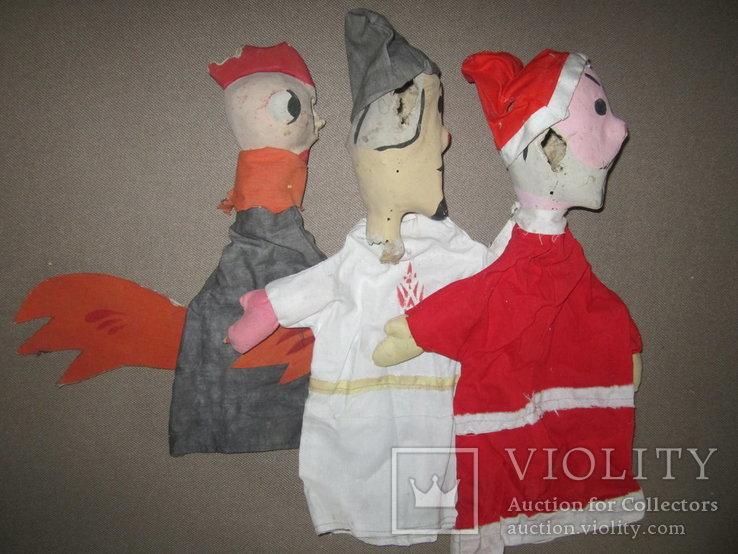 Старинные перчаточные куклы кукольный театр 13шт опилки СССР, фото №8