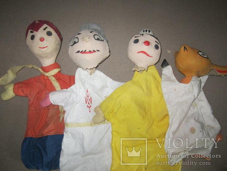 Старинные перчаточные куклы кукольный театр 13шт опилки СССР, фото №9