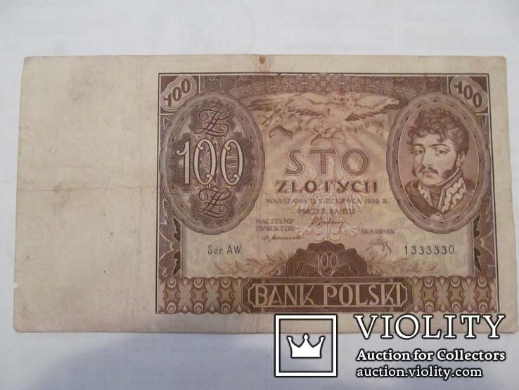 100 злотих 1932 \ вод. знак + після Z -раритет\.