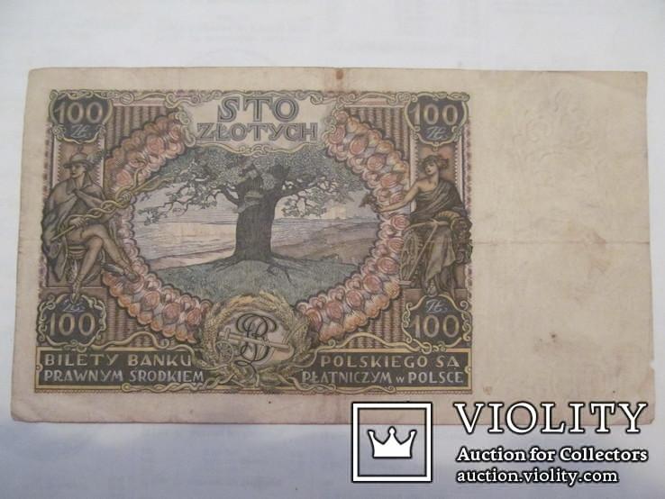 100 злотих 1932 \ вод. знак + після Z -раритет\., фото №3