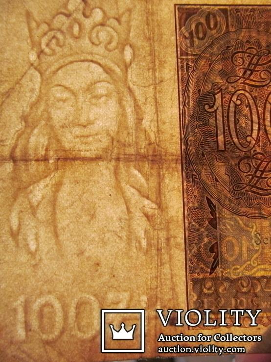 100 злотих 1932 \ вод. знак + після Z -раритет\., фото №4