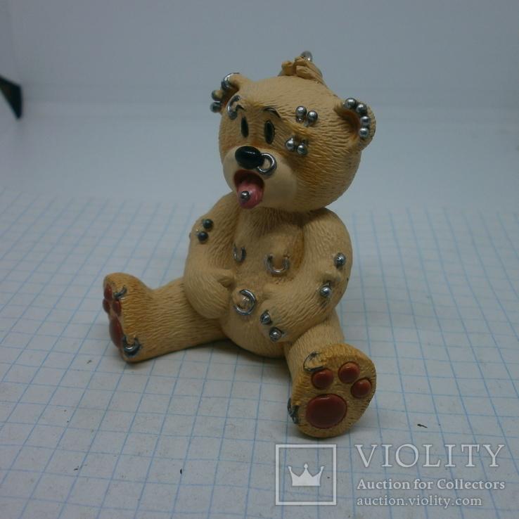 Брелок Мишка Тедди с пирсингом по всему телу, фото №3