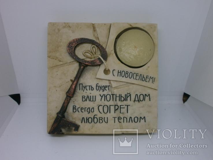 Настольная композиция С Новосельем. Со свечкой, фото №2