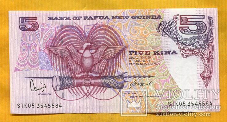Папуа Новая Гвинея, 5 кина 2005 г UNC маска барабан муз. инструмент, фото №3