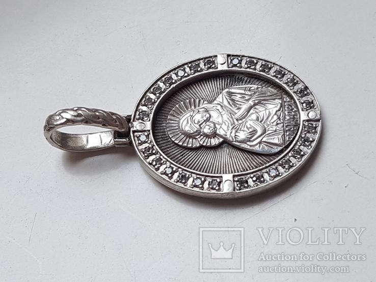 Нательная иконка. Серебро 925 проба. Вес 6.3 г., фото №3