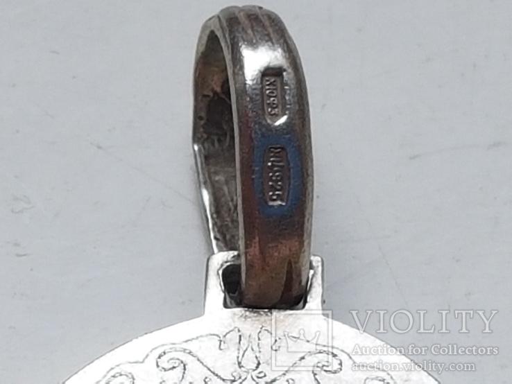 Нательная иконка. Серебро 925 проба. Вес 6.3 г., фото №6