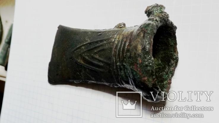 Бронзовый топор кельт с орнаментом, фото №6