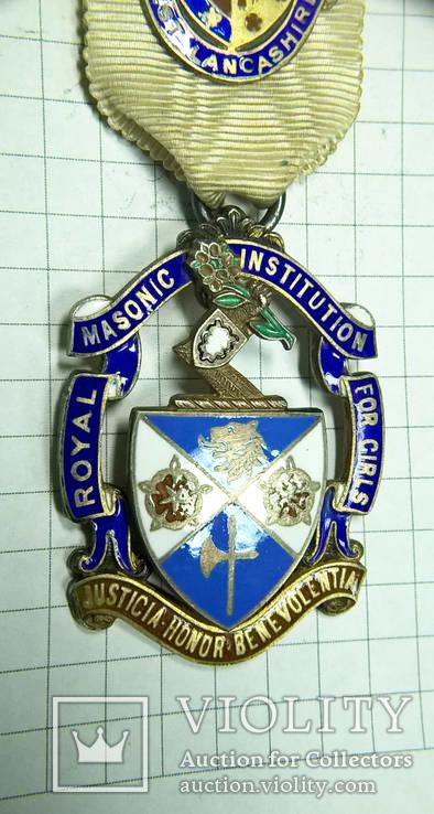 Масонский знак STEWARD. Серебро. RMIG 1925 г., фото №4