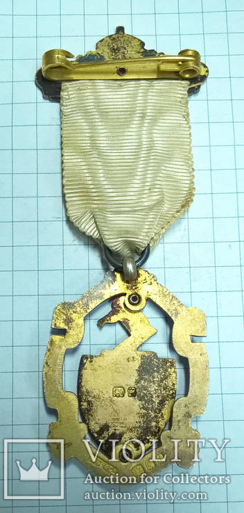 Масонский знак STEWARD. Серебро. RMIG 1925 г., фото №6