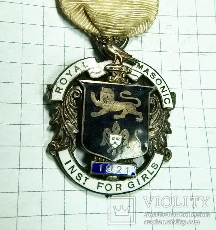 Масонский знак STEWARD. Серебро. RMIG 1921 г., фото №4