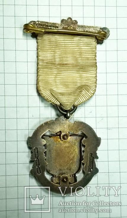 Масонский знак STEWARD. Серебро. RMIG 1921 г., фото №6