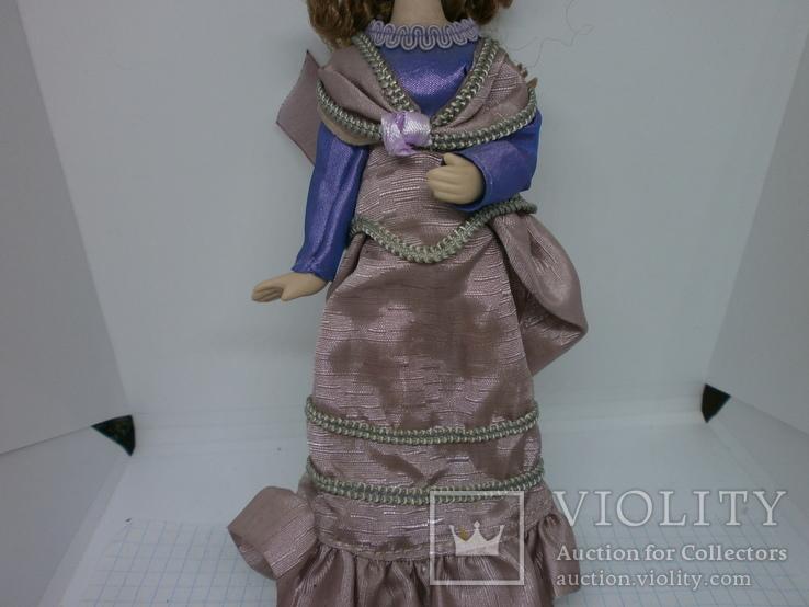 Полностью фарфоровая кукла. 190мм, фото №4