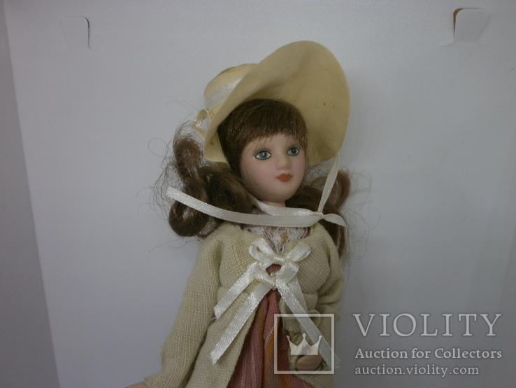 Полностью фарфоровая кукла. 190мм, фото №3