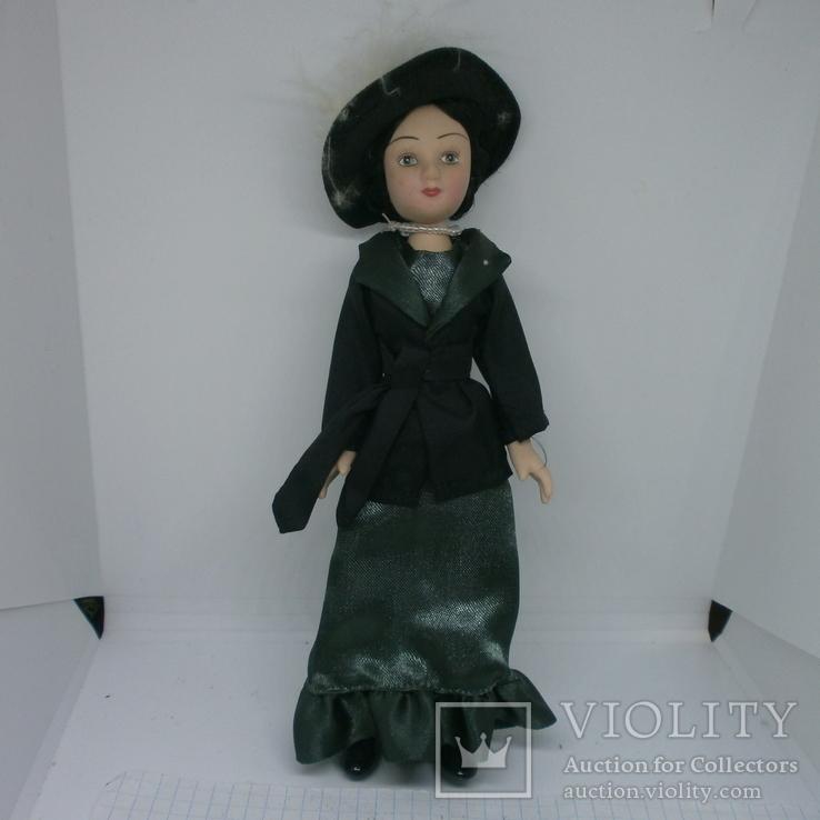 Полностью фарфоровая кукла. 190мм, фото №2
