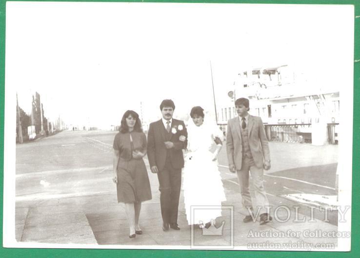 Молодожены Киев Набережная 1985, фото №2