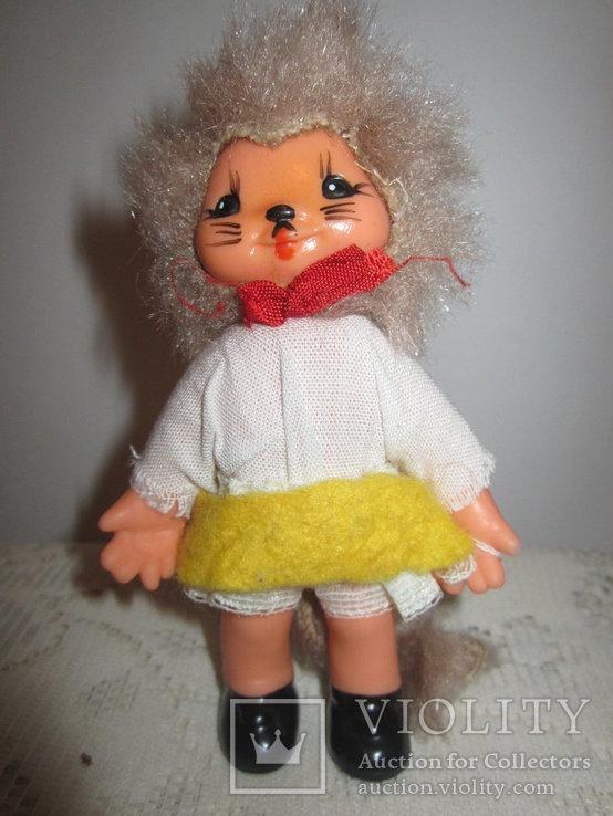 Кукла кошка 12см новая ГДР, фото №4