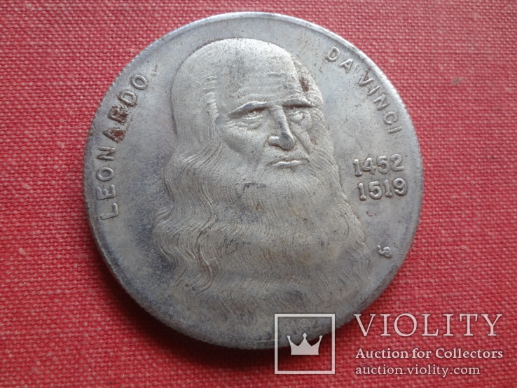 Жетон монета Леонардо да Винчи   копия   (S.7.6)~, фото №3