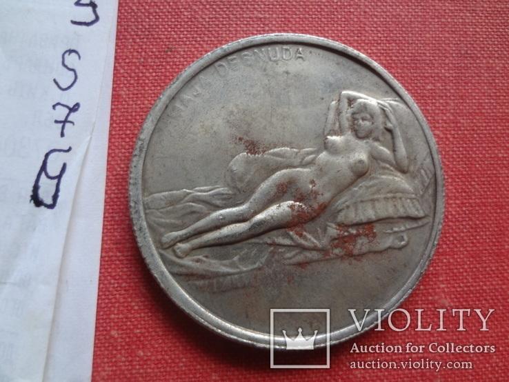 Жетон монета Леонардо да Винчи   копия   (S.7.6)~, фото №2