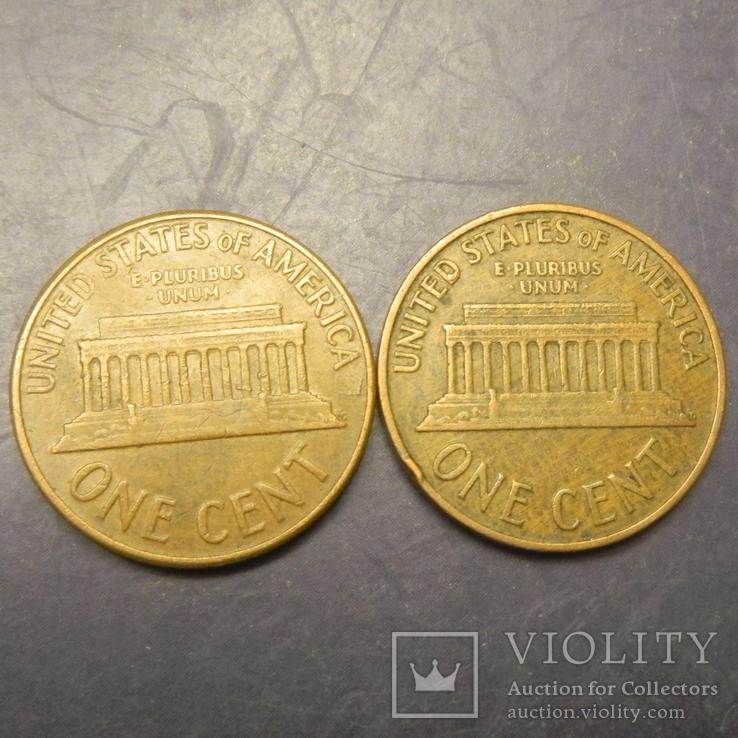1 цент США 1960 D (два різновиди), велика та мала дати, фото №3