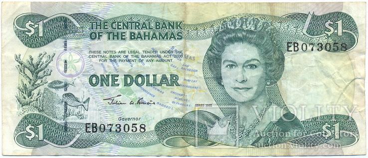 Багамские о-ва, Багамы 1 доллар серии 2002 г. Pick-70, фото №2