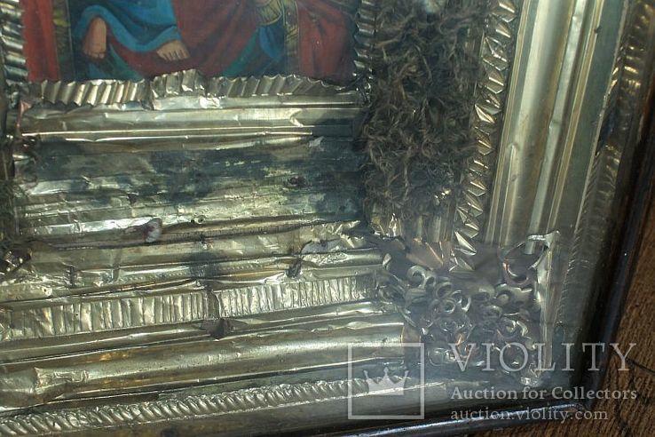 Большая икона под стеклом ( 53 на 47 см), фото №7