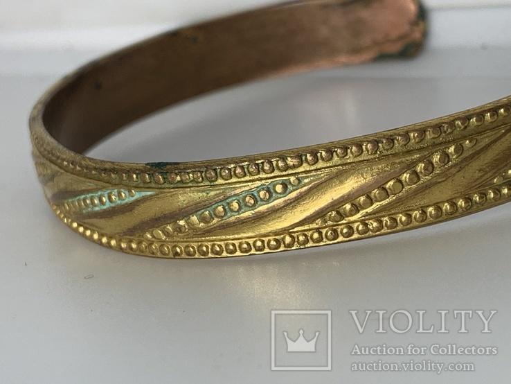 Винтажный позолоченый браслет из Англии, фото №3