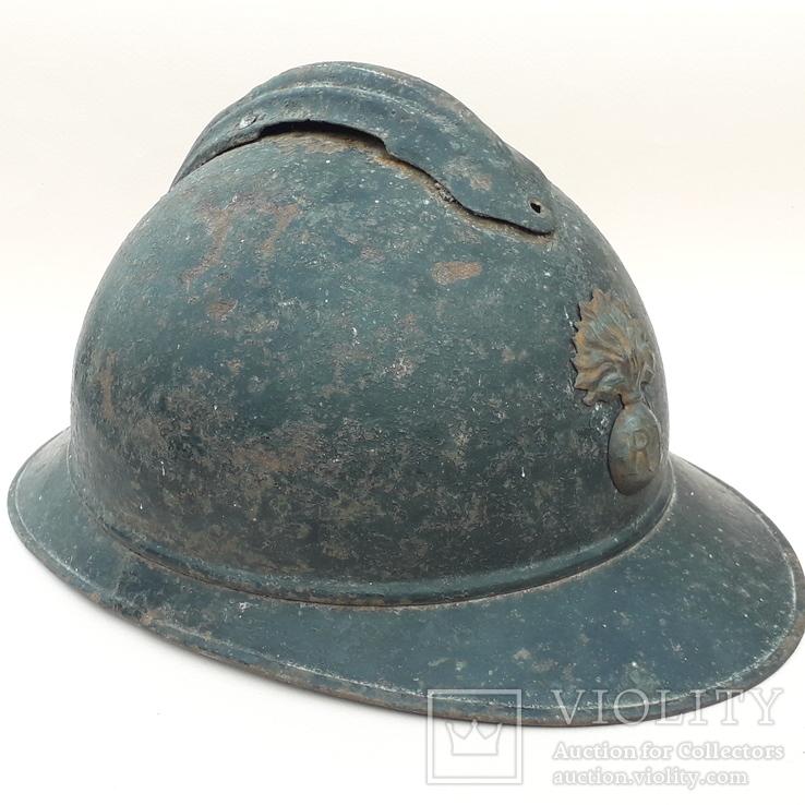 Каска Адриана 1915 года, Франция, кокарда французской пехоты