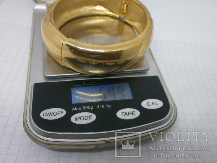 Объемный разжимной браслет. тяжелый, фото №7