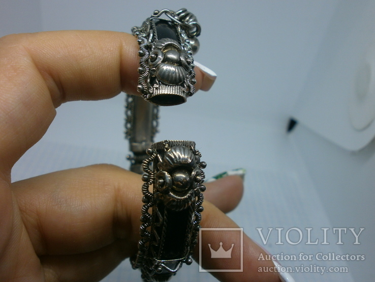 Разжимной браслет с висюльками, фото №9