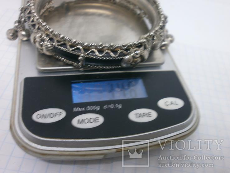 Разжимной браслет с висюльками, фото №10