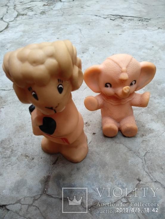 Лот резиновых игрушек времен СССР, фото №3