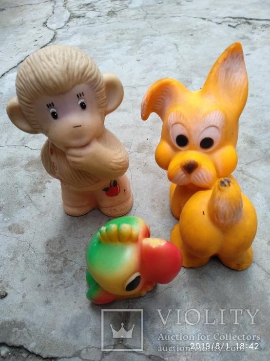 Лот резиновых игрушек времен СССР, фото №4