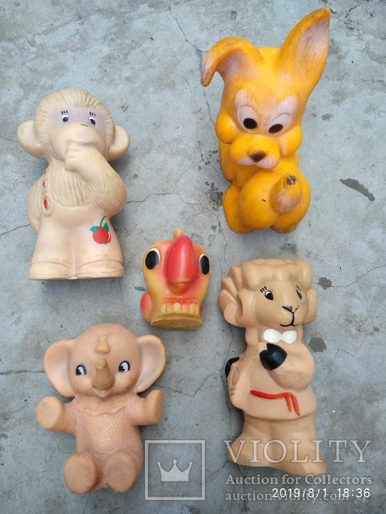 Лот резиновых игрушек времен СССР, фото №12