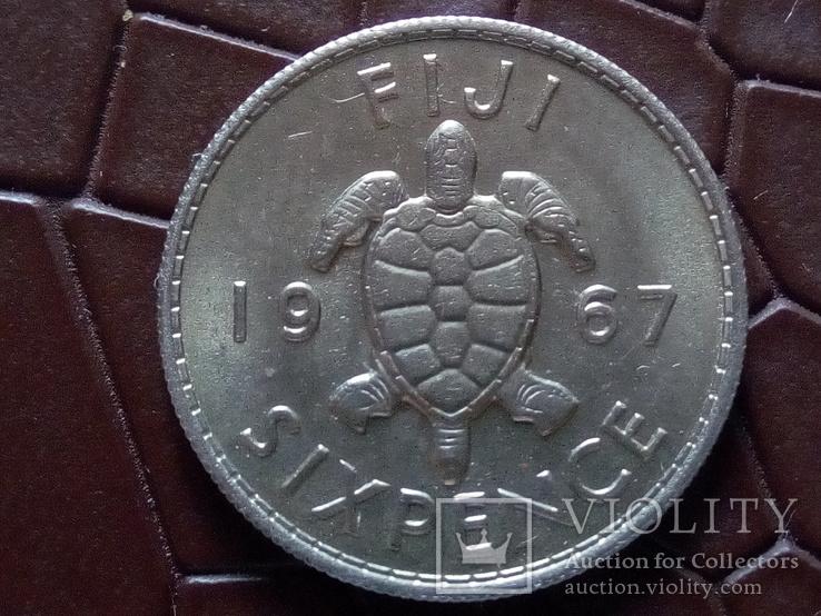 6 пенсів 1967 року Фіджи /колонія/, фото №2