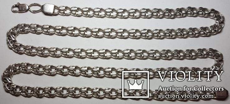 Цепь, серебро, фото №2