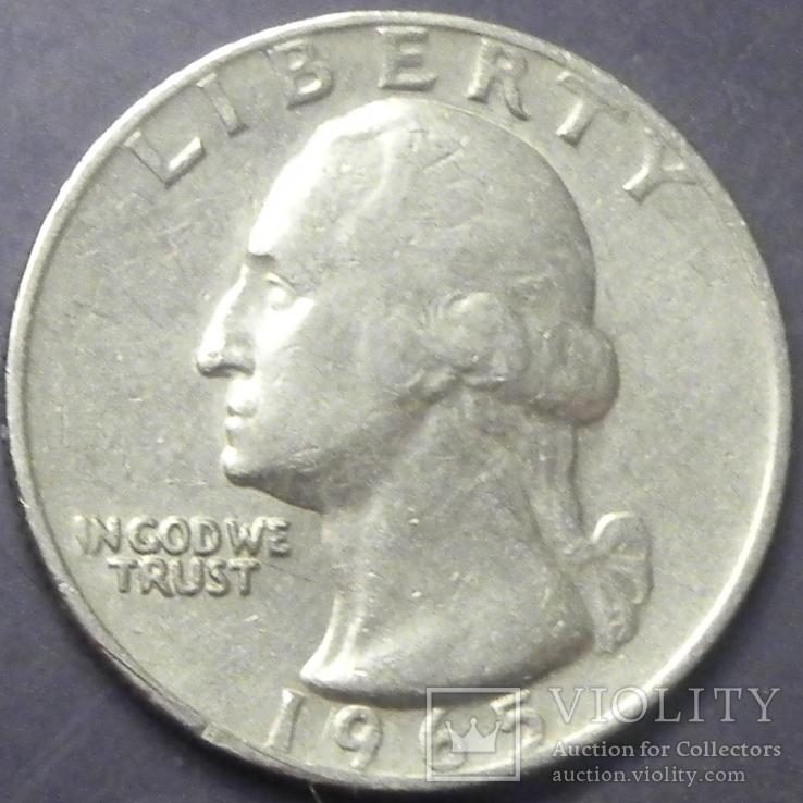 25 центів США 1965, фото №2