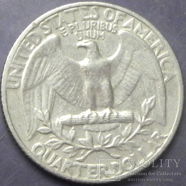 25 центів США 1965, фото №3
