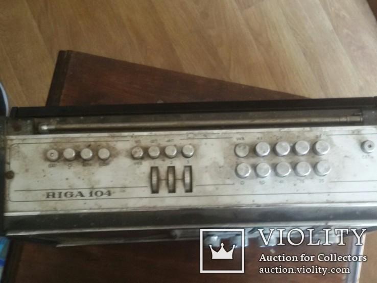 Радиоприёмник Рига-104. Рижский радиозавод имени А.С.Попова. Выпуск рп с 1973 года., фото №3