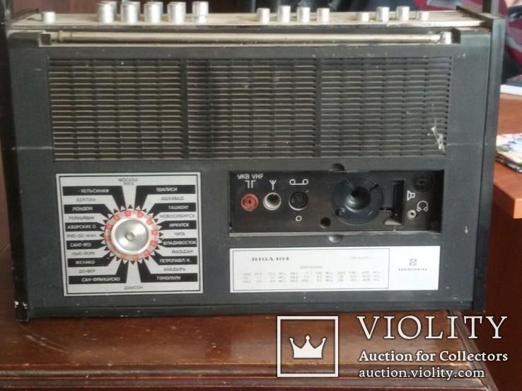 Радиоприёмник Рига-104. Рижский радиозавод имени А.С.Попова. Выпуск рп с 1973 года., фото №4