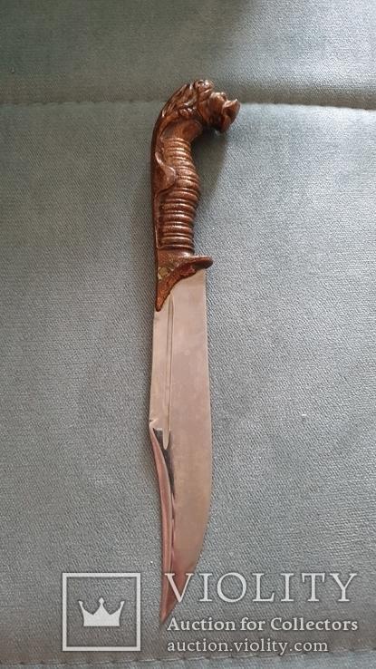 Нож лагерный. Лев., фото №3
