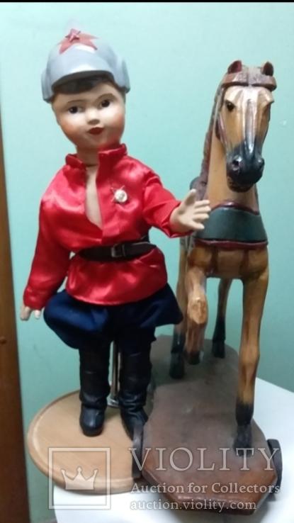Кукла НКВД 55см Опилочная+Антикварная Лошадка 1900годов