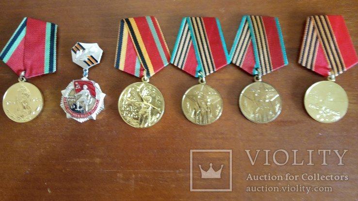 Медаль 20 лет Победы, 25 лет Победы, 30 лет Победы, 40 лет Победы, 50 лет Победы - 6 шт, фото №2